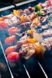 BBQ sur le gril Photo stock