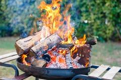 BBQ sur le jardin image stock