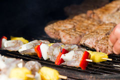 Bbq surf and turf Royalty Free Stock Image
