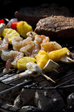 Bbq surf and turf Royalty Free Stock Photography