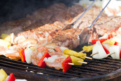 Bbq surf and turf Stock Photography