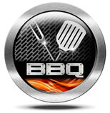 Bbq Symbol - Barbecue Icon Stock Photos