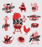 Bbq symbol vector Royalty Free Stock Photo