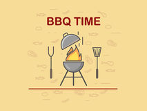 BBQ time. Background Royalty Free Stock Images