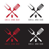 Bbq tools and beer vector design Stock Images