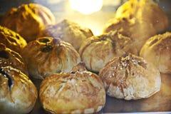 BBQ traditionnel de petit pain de pâtisserie de rôti - 'Siew Pau Images libres de droits