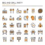 BBQ und Grill-Partei stock abbildung