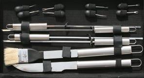 bbq-utensils royaltyfria bilder