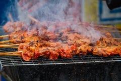 BBQ uwędzony kurczak Obrazy Stock