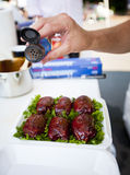 BBQ uwędzony kurczak Fotografia Stock