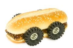 BBQ van de rib sandwich - Snel Voedsel Royalty-vrije Stock Foto's