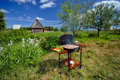 BBQ van de tuin Stock Afbeelding