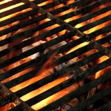 BBQ van het Grill Abstracte Kader Textuur Als achtergrond Royalty-vrije Stock Afbeeldingen