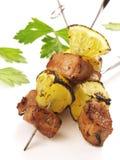 Bbq varkensvlees kebab Stock Afbeeldingen