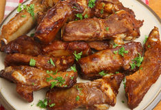 BBQ Varkensvleesribben Stock Foto