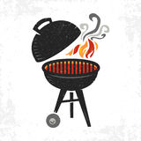 BBQ vector icon. A colorful and textured illustration of a barbecue Royalty Free Stock Photos