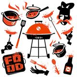 BBQ vector logo design template. cooking or Stock Photography