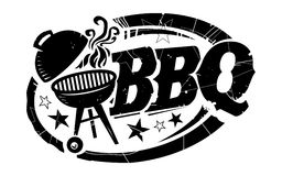 BBQ vectorpictogram Royalty-vrije Stock Foto