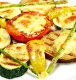 BBQ Vegetable under Sabayon Suace Stock Photos