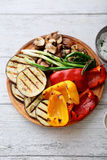 Bbq vegetables on plate Stock Photography