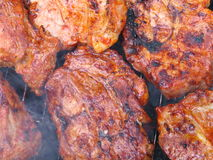 Bbq vlees stock foto