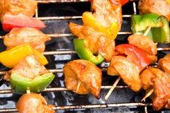 BBQ vlees met paprika Royalty-vrije Stock Foto's