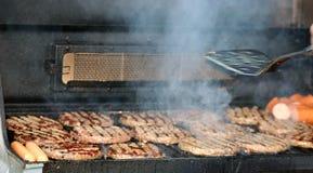 BBQ voor diner royalty-vrije stock afbeelding