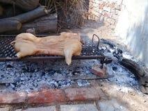 BBQ wieprzowiny dzielnicowy grill zdjęcie stock