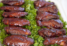 BBQ wings Stock Photography
