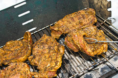 BBQ during the winter Stock Photography