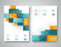 Bbrochure template design with 3d elements. Royalty Free Stock Photos