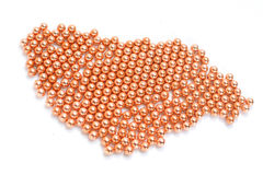 BBs. Copper BB pellets isolated on white Royalty Free Stock Photography