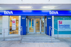 BBVA branch Royalty Free Stock Photo