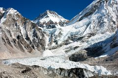 BC冰划分为khumbu -珠穆琅玛。 免版税图库摄影