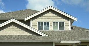 BC外部家庭房子房屋板壁 免版税库存照片