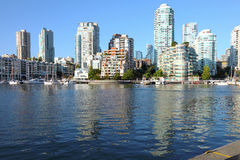 BC小河街市错误地平线温哥华 库存图片