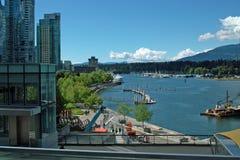 BC温哥华加拿大港  免版税图库摄影