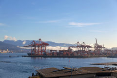 BC温哥华港在加拿大 免版税库存图片