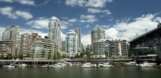 BC都市风景温哥华 免版税库存图片