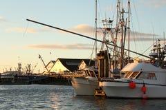 BC靠码头渔夫港口s steveston 图库摄影