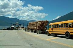 BC高速公路3A, BC加拿大 库存图片