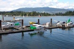 BC加拿大水上飞机观光旅游温哥华 免版税库存照片