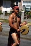 BC Bibak伊哥洛特人舞蹈家, Pinoy节日游行 免版税库存照片
