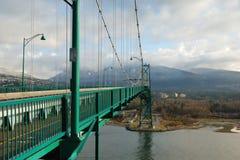 bc bridżowi brama lwy Vancouver Fotografia Royalty Free