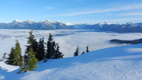 BC Coastal Mountains. Photo of BC's Coastal Mountains taken from the top of Tin Hat Mountain Stock Image