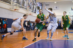 BC Dnepr vs BC Kiev. Ukrainian Super league 2015 Stock Photos
