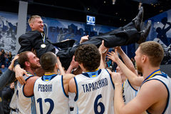 BC Dnipro with head coach Stock Photo