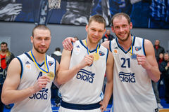 BC Dnipro players Royalty Free Stock Image
