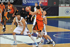 BC Donetsk basketball block rival Stock Photography