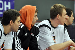 BC Donetsk players watching the game Royalty Free Stock Images